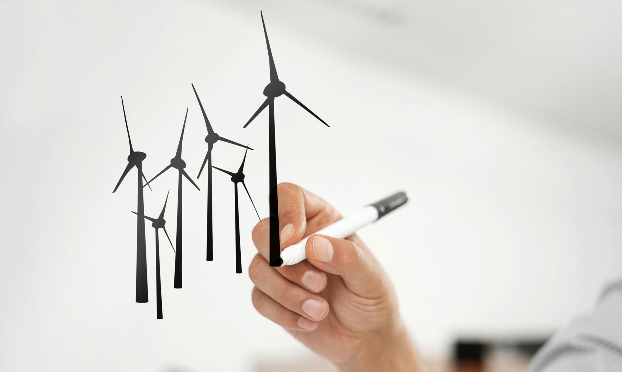 Windkraftanlage Konzeptphase