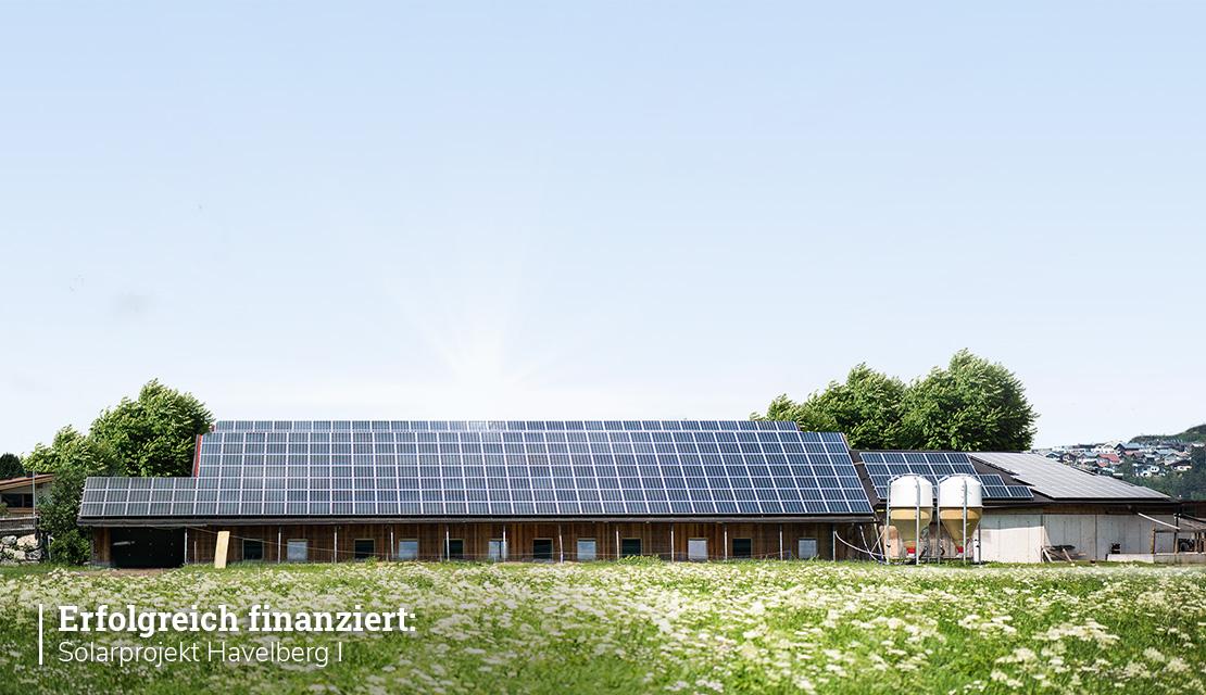 """Projektupdate: """"Solarprojekt Havelberg I"""" bereits erfolgreich finanziert!"""