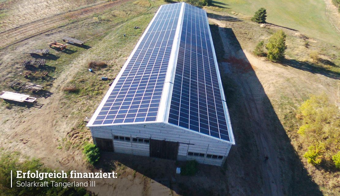 Projektupdate: Solarkraft Tangerland III erfolgreich finanziert!